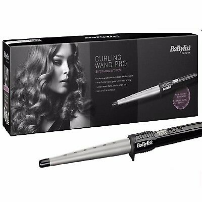 BaByliss Pro 2285CU Conical Ceramic Hair Curling Wand Salon Curler Tong  Styler 3030053322856 | eBay