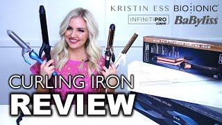 Bio Ionic vs. Kristin Ess vs. Babyliss vs. Con Air || Curling Iron Review  || Jess Hallock - YouTube