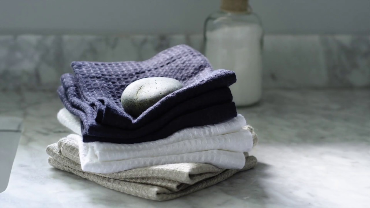 About Waffle Linen Bath Collection - YouTube
