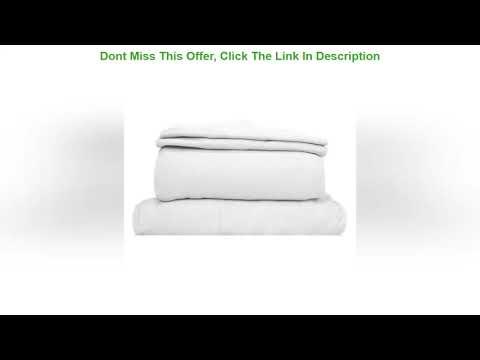 Get Special Price Coyuchi Organic Jersey Sheet Set (Full, Alpine White) -  YouTube