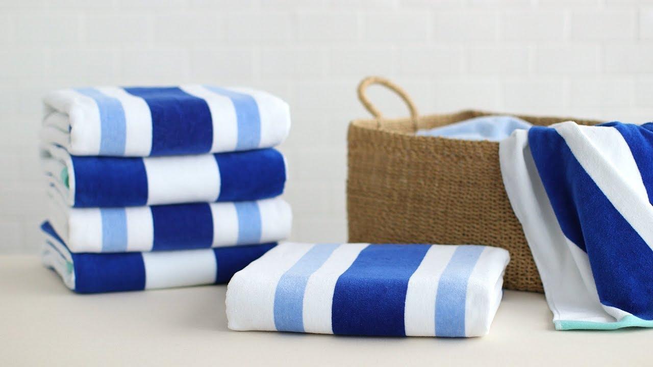 How To Fold Oversized Towels- Martha Stewart - YouTube