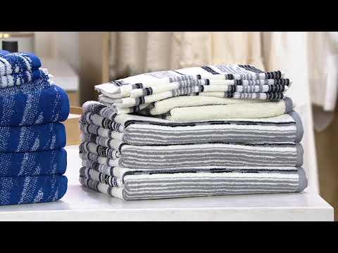 Tommy Bahama 100% Cotton 10-Piece Bath Towel Set on QVC - YouTube