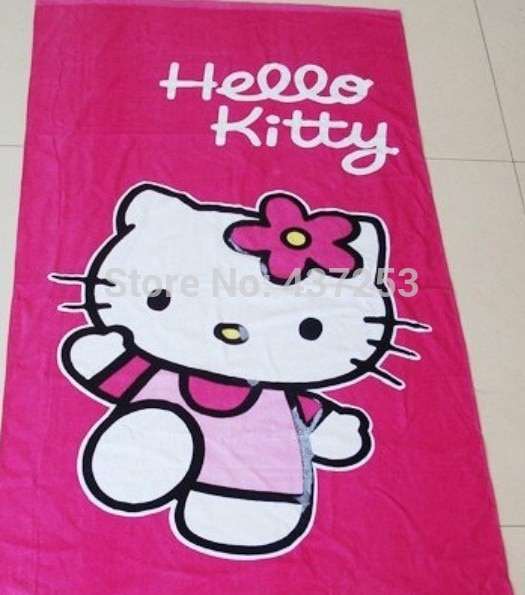 Cotton Bath Towel Brand Four Seasons Hello Kitty Towel Beach Towel Kid  Cartoon Thickening Cartoon Ultra Soft|towel yarn|towel factoriestowel  kitchen - AliExpress