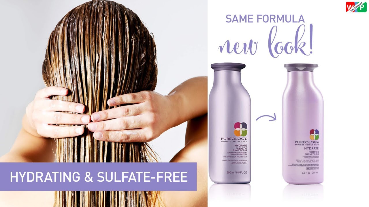 Pureology Hydrate Moisturizing Shampoo | For Medium to Thick Dry, Color  Treated Hair | Sulfate-Free - YouTube