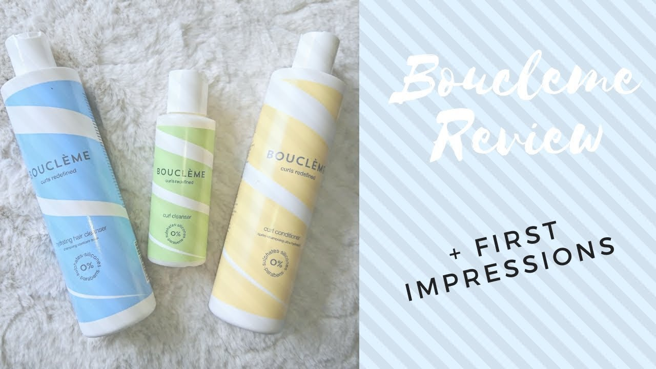 Boucleme Review + First Impressions | Curl Cleanser + Curl Conditioner -  YouTube