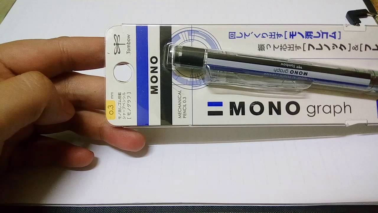 Tombow Monograph 0.3mm Mechanical Pencil & Eraser - YouTube